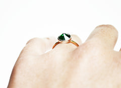 Thin Gold Emerald Ring