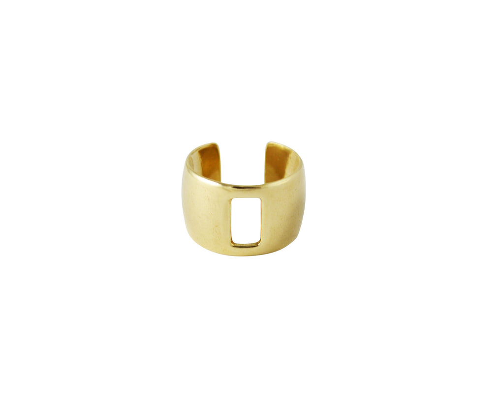 thick gold midi ring