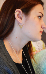 Triangle Shaped Hoop Earrings