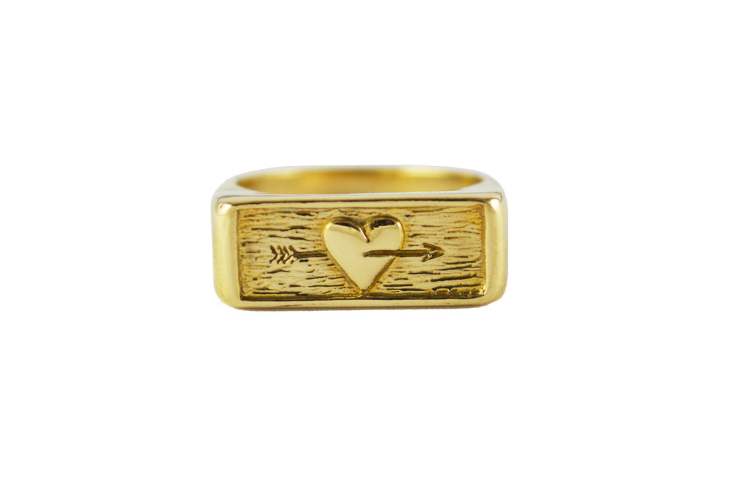 Gold Follow Your Heart Ring