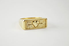 Brass Follow Your Heart Ring