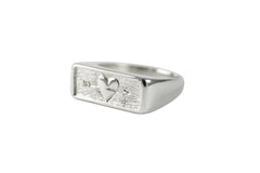 Silver Follow Your Heart Ring