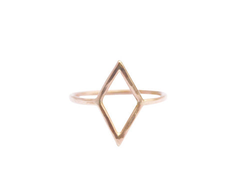 Thin Diamond Shape Ring