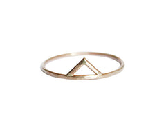 Thin Gold Spike Ring