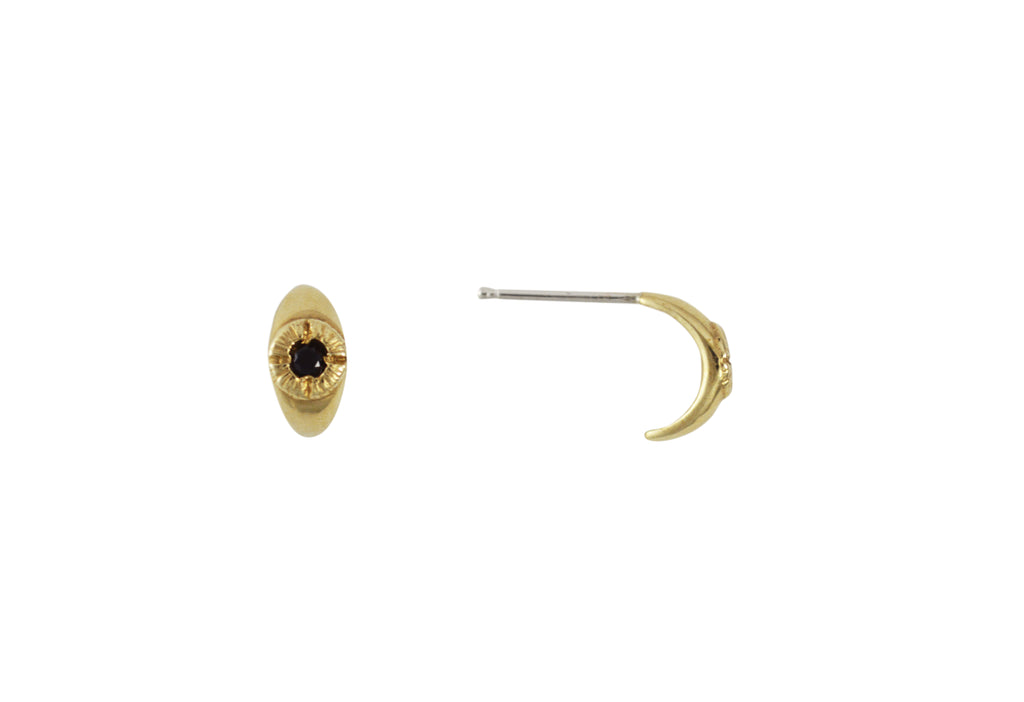Gold Bright Eye Earrings