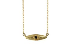 Gold Bright Eye Necklace