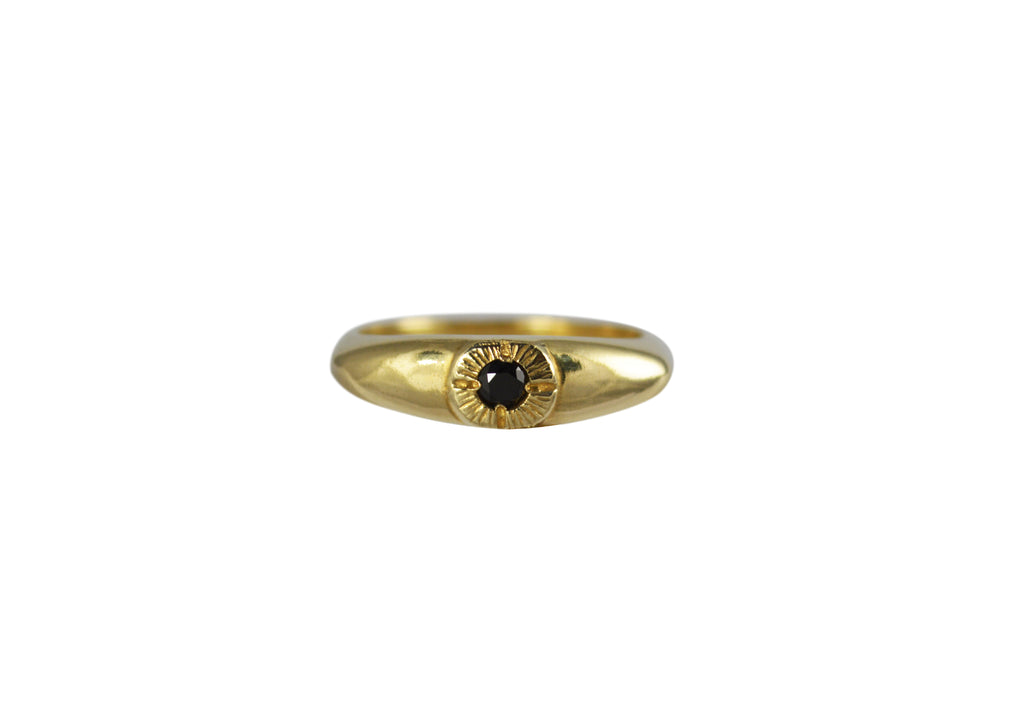 Gold Bright Eye Ring
