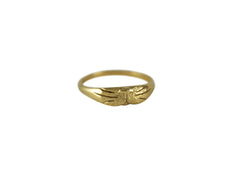 14K Yellow Gold Cat Ring