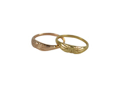 14K Gold Cat Rings