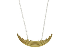 Brass and Silver Statement Necklace