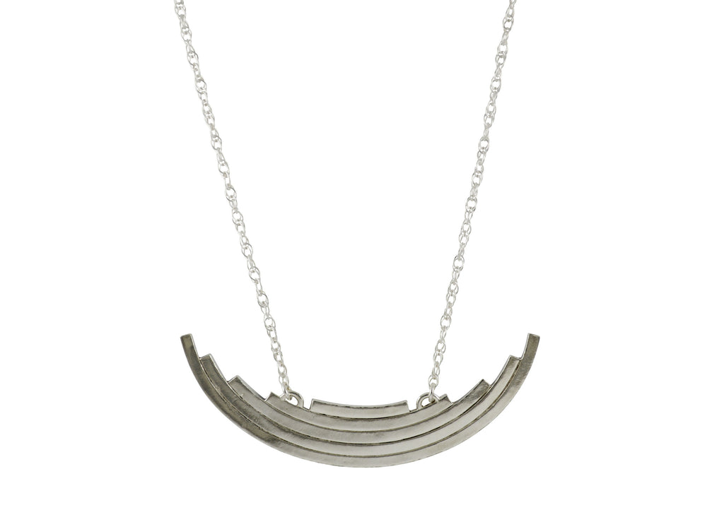 Silver Arc Statement Necklace