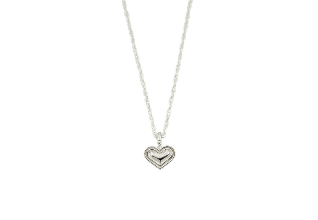 silver tone little heart necklace