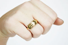 Thick Gold Handmade Ring Band