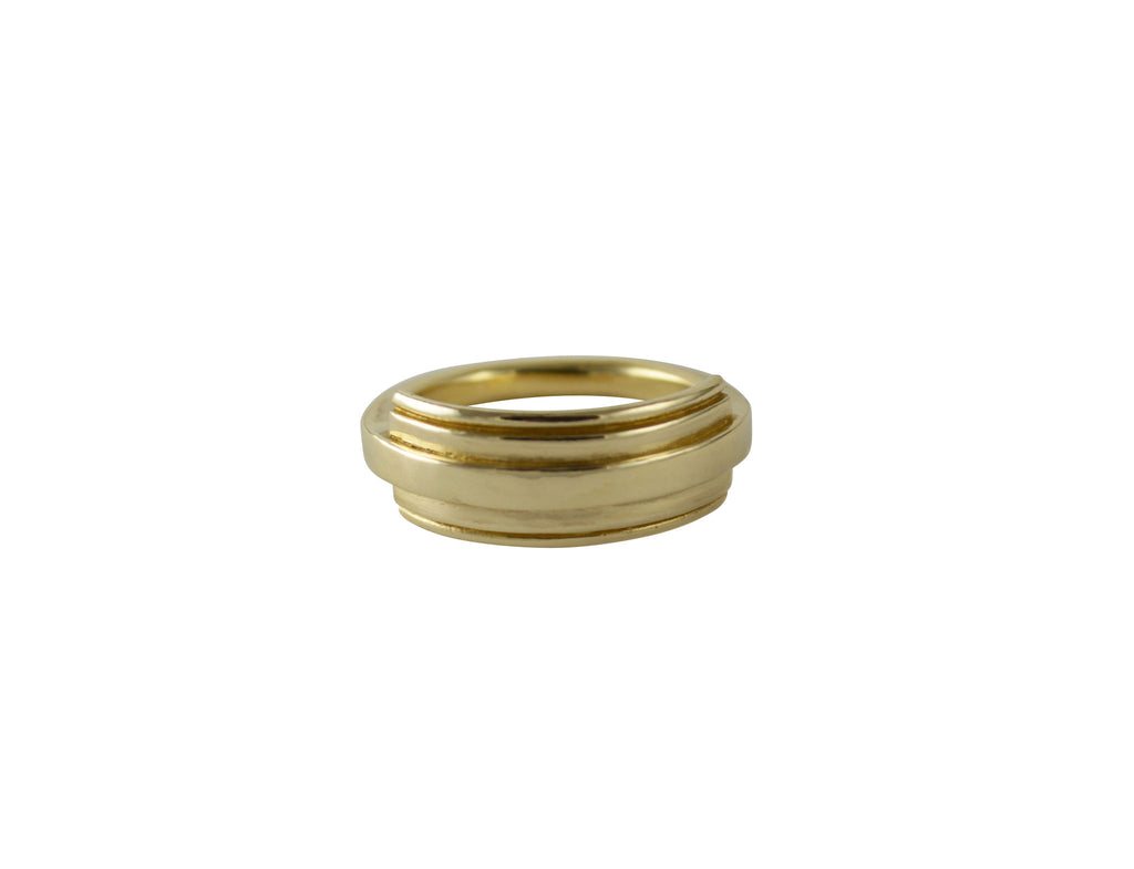 Chunky Gold Handmade Ring