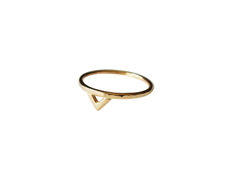 Mega Yellow Gold Spike Ring