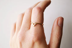 Mega Yellow Gold Spike Ring by Stefanie Sheehan
