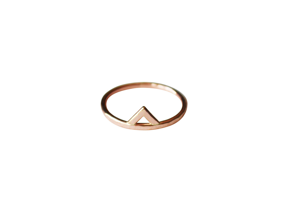 Mega Rose Gold Spike Ring