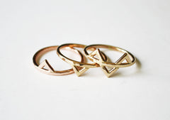 Mega Gold Rings by Stefanie Sheehan