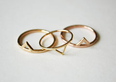 Mega versus Thin Gold Spike Rings by Stefanie Sheehan