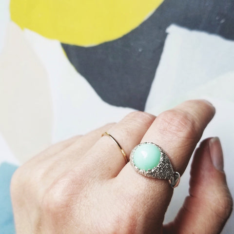 Serenity Ring - Mint Chrysoprase - sz. 7.5