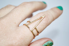 Large gold fill spike ring