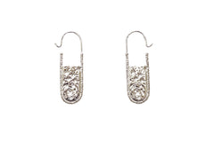 Silver Night Sky Carved Earrings