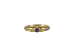 Gold Palm Ring with Blue Sapphire