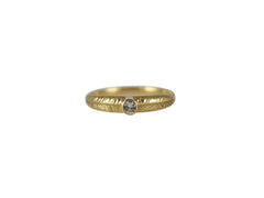 Gold Palm Ring with White Sapphire