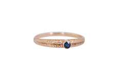 Rose Gold and Blue Sapphire Ring