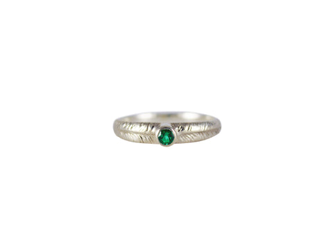 Palm Ring with Emerald