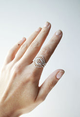 Sterling Silver ring stack with three rings