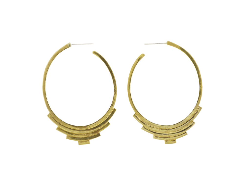 Unique gold hoop earrings