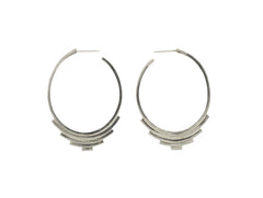 Unique silver hoop earrings