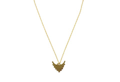Thin gold pendant necklace