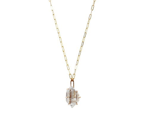 Gold Quartz Necklace #4