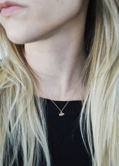 Tiny Rose Gold Cat Necklace