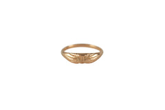 14K Rose Gold Cat Ring