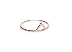 thin rose gold triangle ring