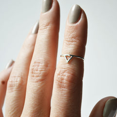 Silver Spike Knuckle Ring