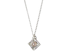 Silver Sacred Necklace with Pink Quartz by Stefanie Sheehan