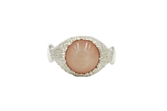 Serenity Ring with Peach Moonstone