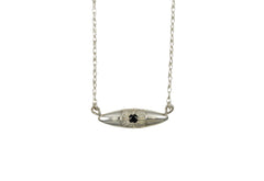 Silver Bright Eye Necklace