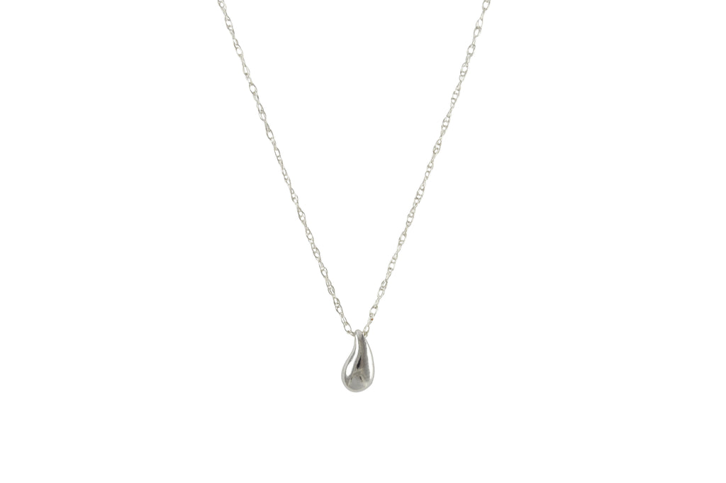 Silver Tear Necklace