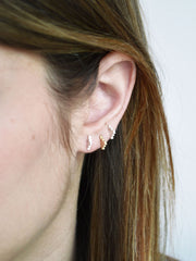 Small Pyramid Stud Earrings