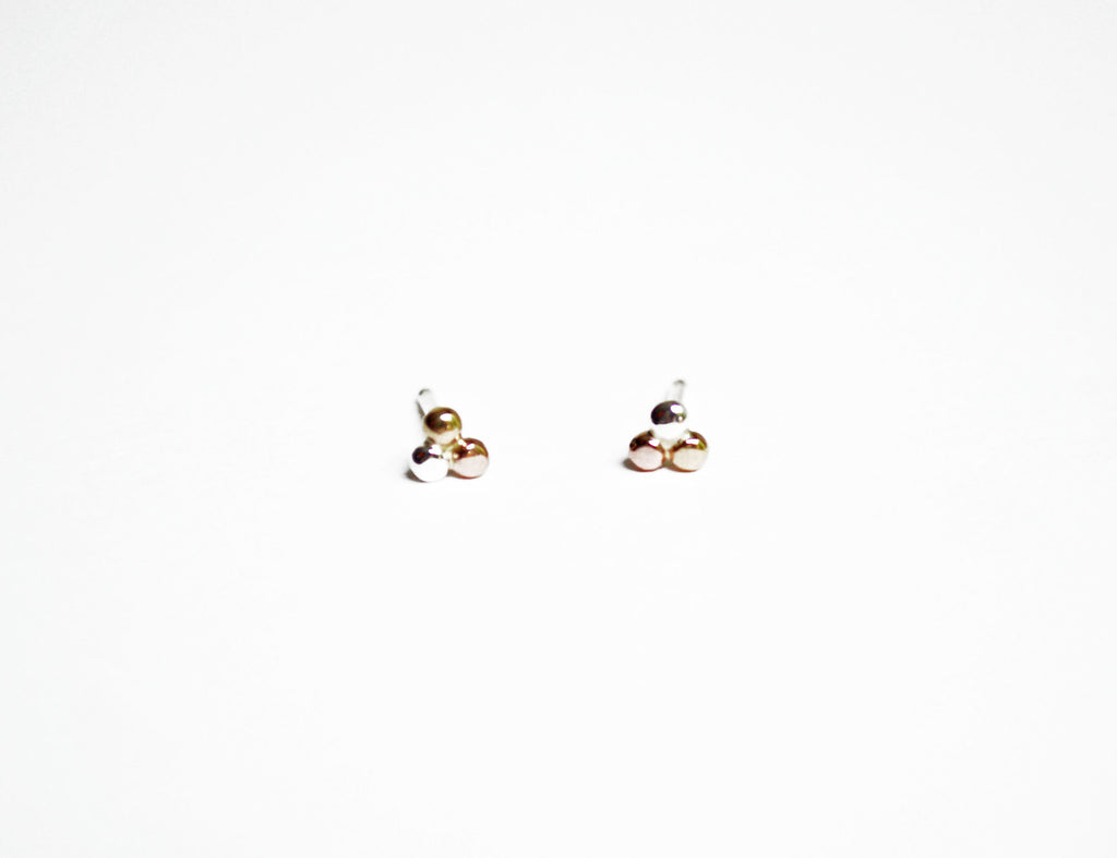 Tiny Three Dot Ear Studs