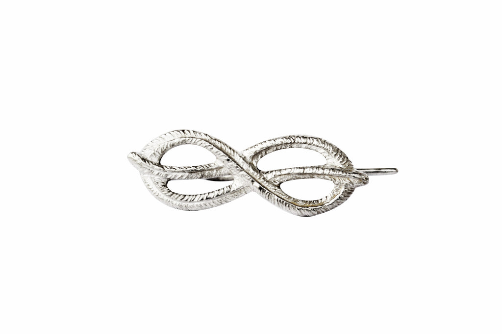 Silver Palm Knot Ear Pin