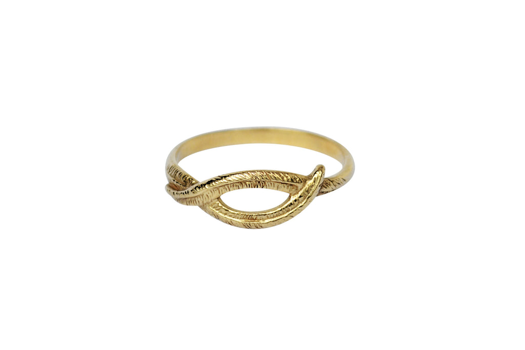 Gold Woven Palm Ring