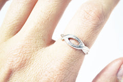 Silver Woven Palm Ring by Stefanie Sheehan