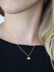 Brass and Gold Tiny Cat Charm Necklace