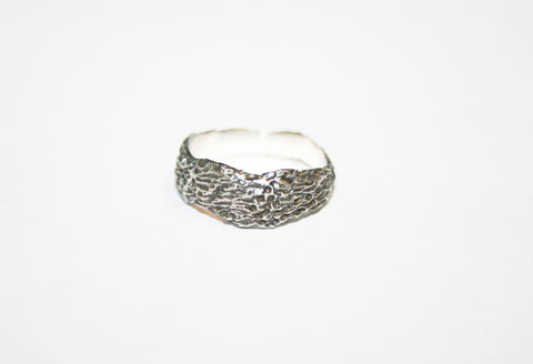 Silver Textured Band